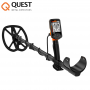 Quest Q40 Metalldetektor Kombo-Set Ink. Wireless-Funkkopfhörern und Raptor Spule