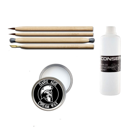 Restauration Set für Bodenfunde mit 500ml Conservo und Dark Age Cream Wax