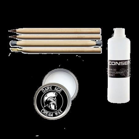 Restauration Set für Bodenfunde mit 250ml Conservo und Dark Age Cream Wax